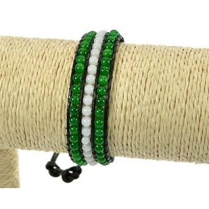 Rank 3 Beads Bracelet Fantasy on 59240 adjustable wire