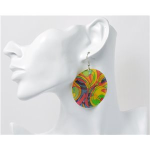 1p Boucles Oreilles en nacre naturelle Collection Fashion Design 69603