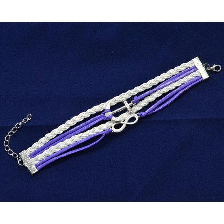 Good Luck Bracelet Anchor Marine 5 strands L23cm maxi 61135