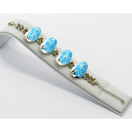 Bracelet métal argenté Strass Collection Maia L20cm 61234