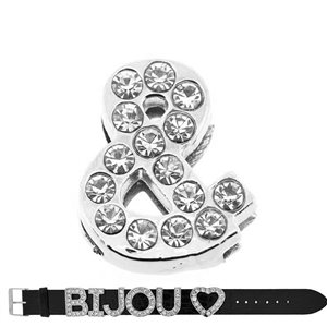 Initial Full Rhinestone Bracelet 20mm to 18mm name & 69227