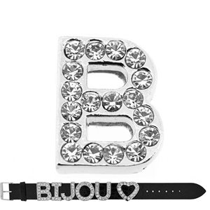 Initial Full Rhinestone Bracelet 20mm to 18mm name Letter B 69202