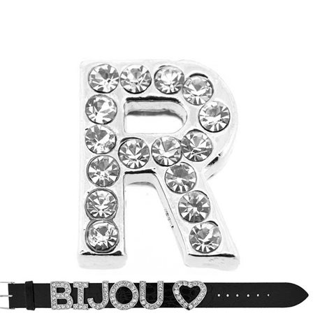 Initial Full Rhinestone Bracelet 20mm to 18mm name Letter R 69218