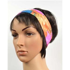 polyester hair band fashion flower width 7cm 70694