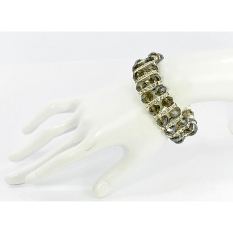 Bracelet élastic Full Rhinestone Crystal Beads Faceted 61922