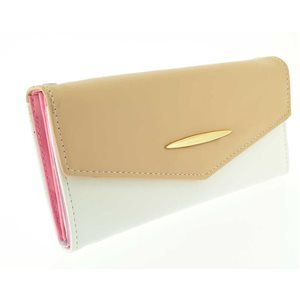 leather look wallet woman l19-70801 H10cm classic collection
