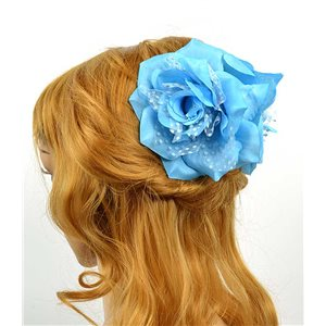 Hair clip crab 8cm Fashion Peas Rose and Tulle Flower 12cm 70634