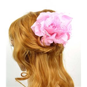 Hair clip crab 8cm Fashion Peas Rose and Tulle Flower 12cm 70633