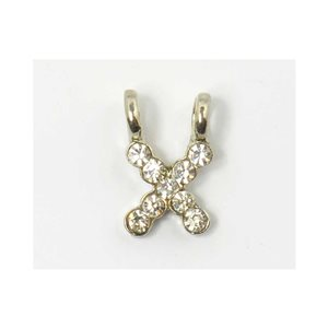 Initial Pendant full rhinestone 8mm name necklace letter x 69846