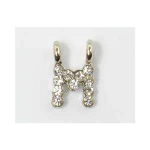 Initial Pendant full rhinestone 8mm name necklace letter m 69835