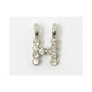 Initial Pendant full rhinestone 8mm name necklace letter h 69830