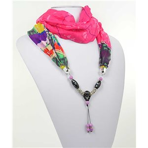 polyester scarf jewelry necklace new collection 2017 71005